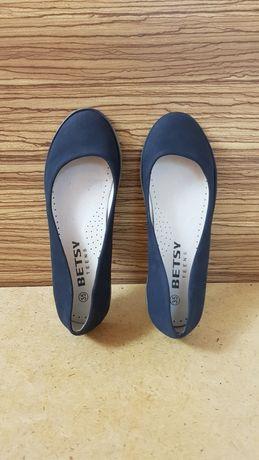 Туфли школьные темно-синие