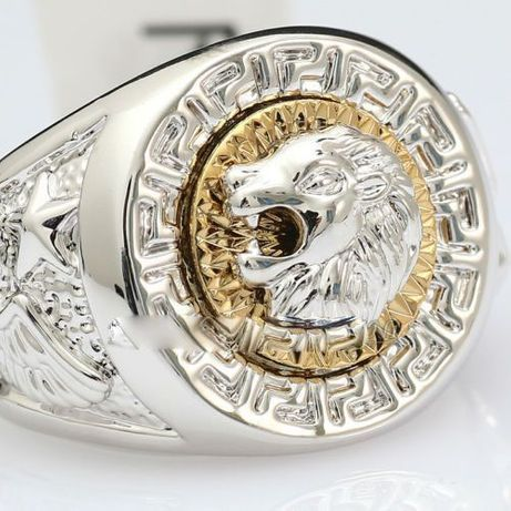 Inel Versace style,silver-gold 18KGP-