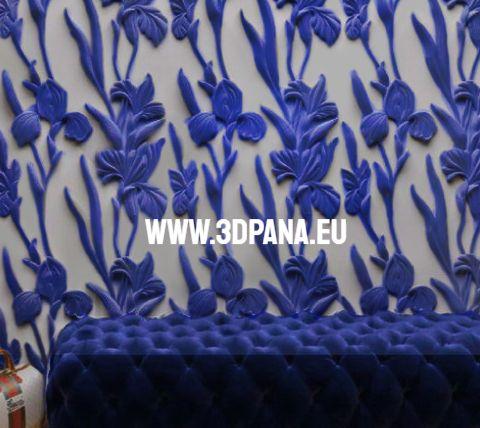 Стенни облицовки, 3D гипсови панели, облицовъчен камък , пана №0140