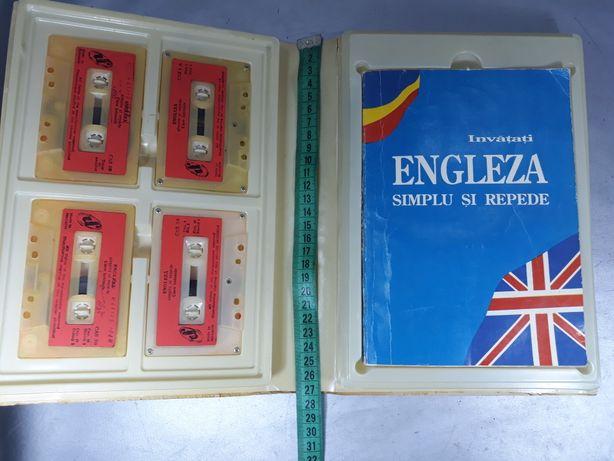 Curs engleză casete audio și carte de conversație de colecție vechi