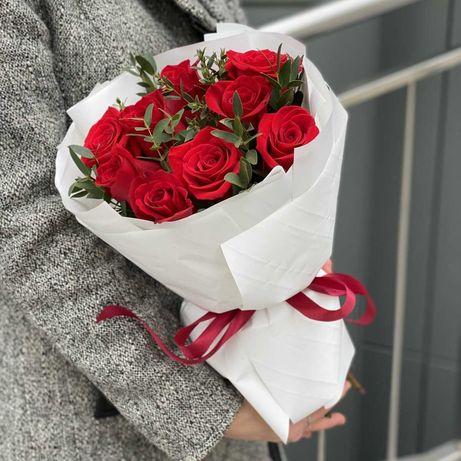 Букеты из Роз - Гербер - Хризантем | Розы | Доставка цветов | 34