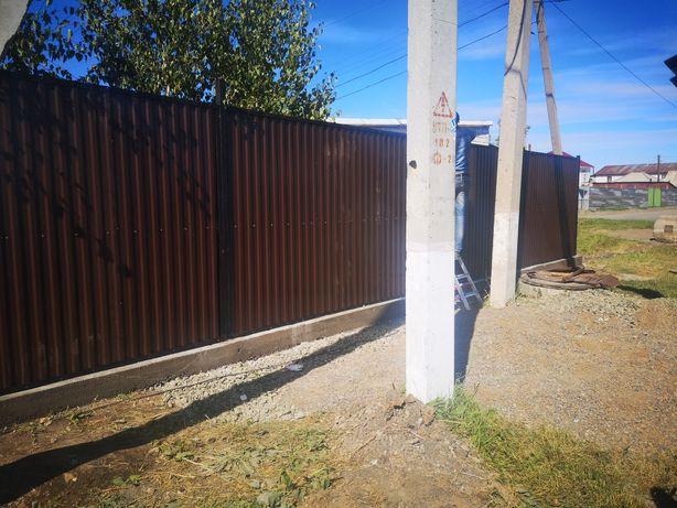 Ограждения для строительных объектов ворота забор из профнастила
