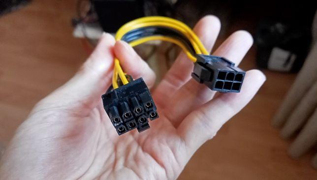 Кабель-переходник для видеокарт 6pin - 8pin (с 6пин на 8пин)