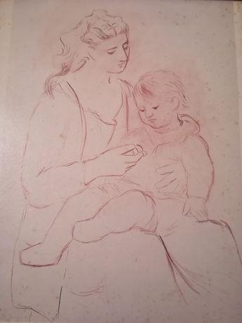 Serigrafie Mama și Copilul