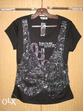 Черна блузка с елече- нова!
