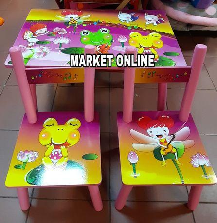 Set masuta,masa MDF cu 2 scaune pentru copii