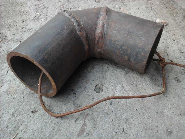 Стальной отвод сварной  на 76мм и гнутый  на 50мм(2шт)