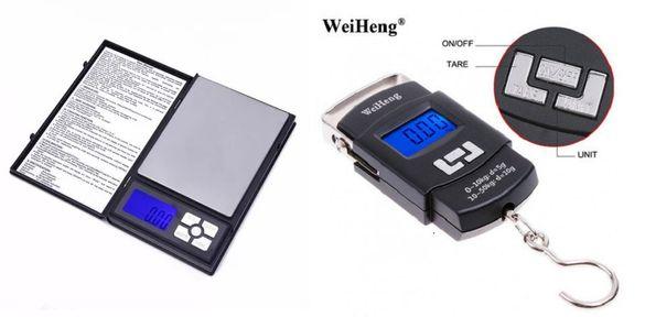 Изгодно! Нови прецизни везни точност 0.01 гр. или джобни с кука 50 кг.