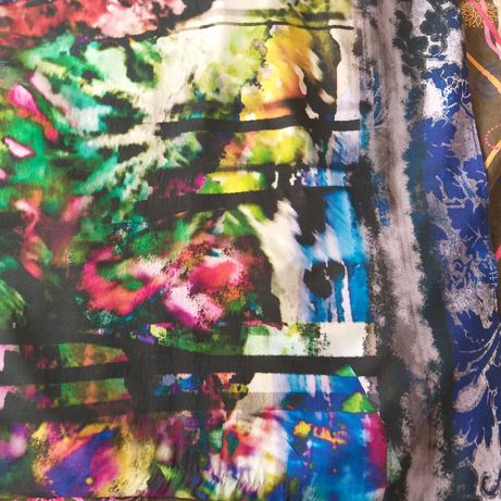 30% silk/коприна70% памук голям шал