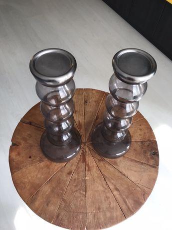 Ръчно правени стъклени Свещници