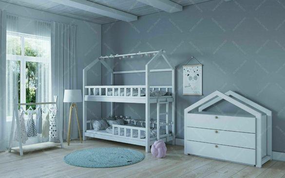 Легло къщичка двуетажно - Монтесори тип