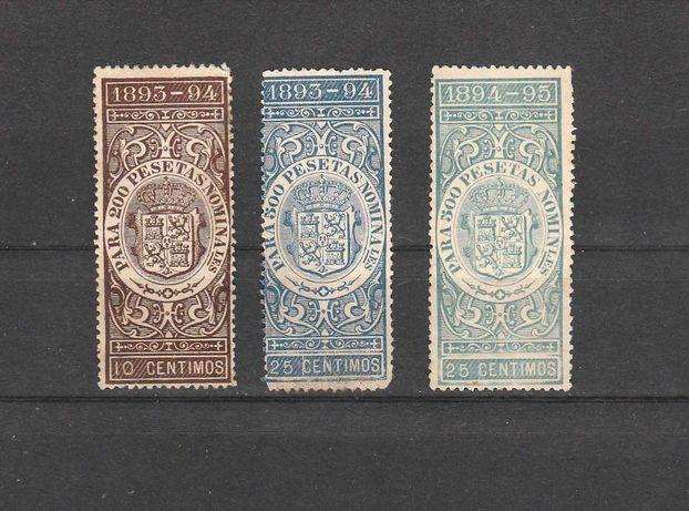 Lot timbre fiscale spania 1894 vechi timbru straine sua usa franta