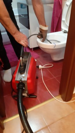 Desfundare canalizare sarpe electric, instalatii sanitar, gaura carota