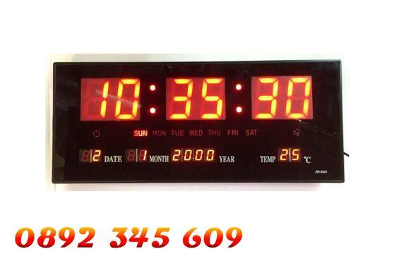 Голям Led електронен стенен часовник Jh3615