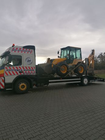 Tractări camioane O76O1O51O5 Transport utilaje Grele Buldo, taf etc