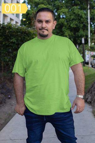 Мъжки Едноцветни Големи Тениски 100 % Памук M-L-XL-2XL-3XL-4XL-5XL