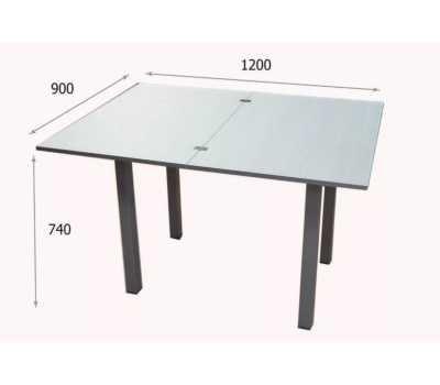 Стол обеденный (раскладной), российский , с 4 табуретами