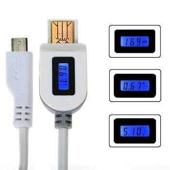 Cablu incarcare cu voltmetru si ampemetru