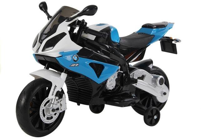 Motocicleta electrica cu roti ajutatoare BMW S1000RR PREMIUM #Albastru