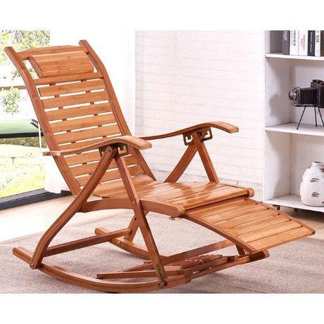 Balansoar de terasa scaun living cu cadru lemn rezistent bambus