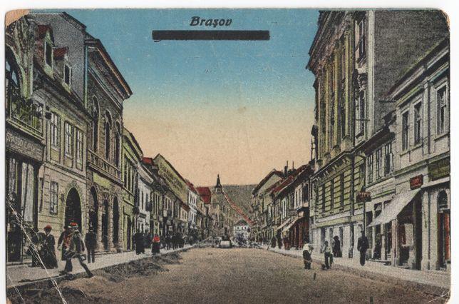 Carte poștală Brașov 1918