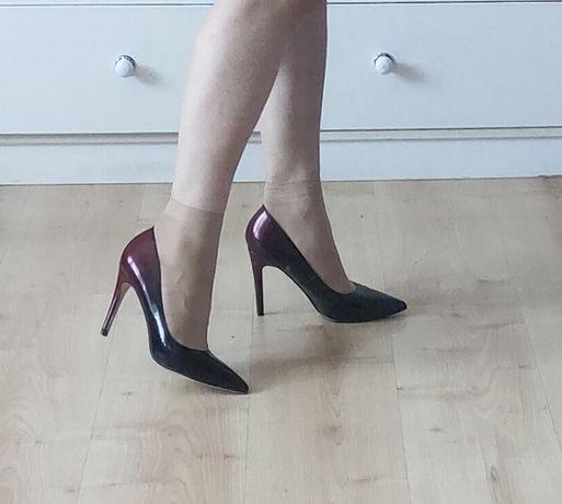 Туфли новые! 36 р-р, лакированные, градиент