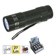 Lanterna 9 leduri lumina alba, noua, la tipla cu 3 baterii AAA noi