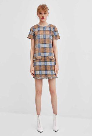 Твидовое платье ZARA