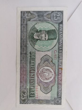 Bancnota 25 lei - 1966