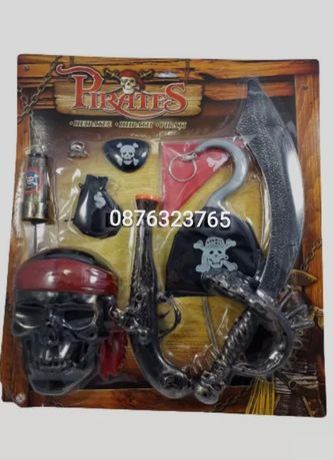 Детски пиратски комплект 9 части Карнавален костюм Играчки Пират