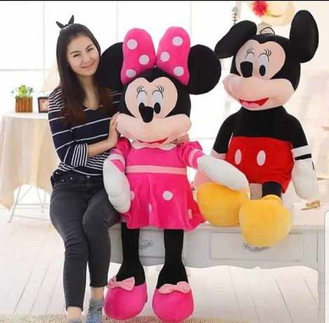 Jucarie din plus,Mascota Minnie Minnie &Micky Mouse,roz,rosu