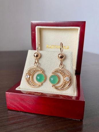 Мусульманские золотые серьги с алмазами