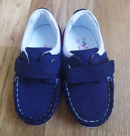 Pantofi / mocasini din piele pt baieti marimea 23