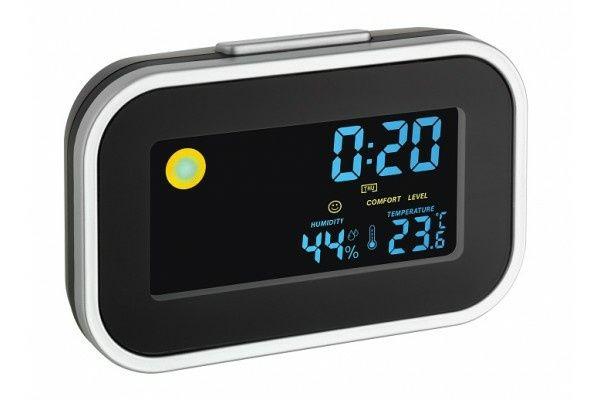 Termohigrometru digital cu ceas desteptator TFA