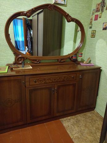 Комод с зеркалом мебель в гостиную