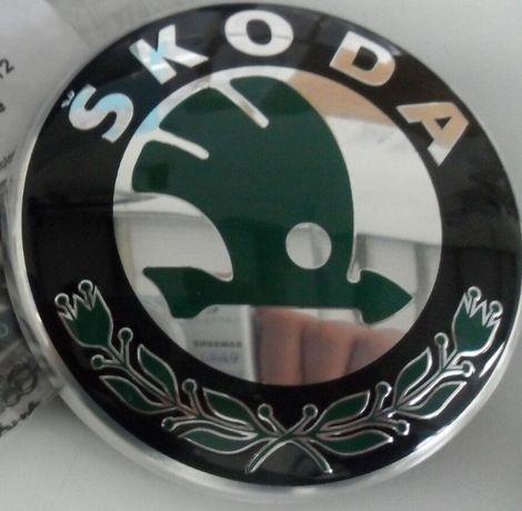 Emblema fata capota grila Skoda Superb Yeti Octavia Fabia Originala