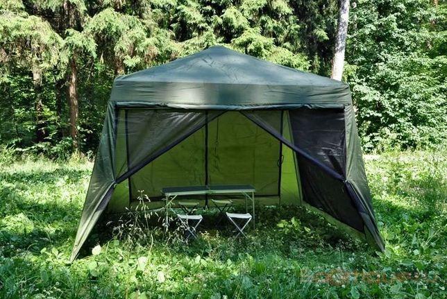 Палатка шатер на 7-8 человек высокая с металлическим каркасом
