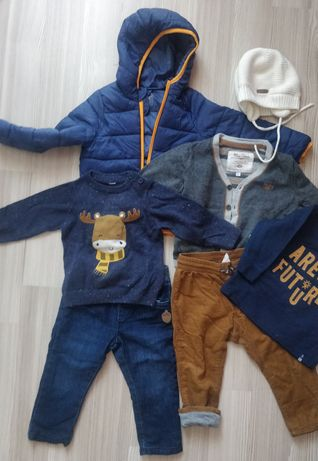 Lot haine (pantaloni,bluze,geaca) toamna/iarna baietel marime 86