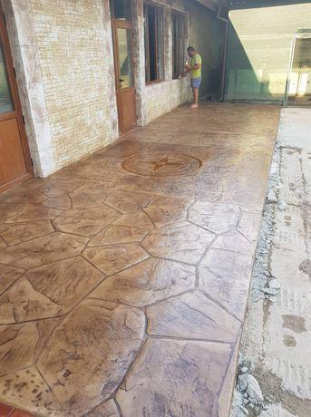 Щампован бетон и декоративен бетон
