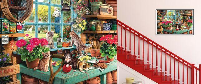 Puzzle pisici 1000piese. Marime 75x50cm Nou ambalat!