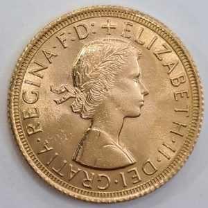 Moneda din aur 1 Sovereign – Elizabeth II 1964