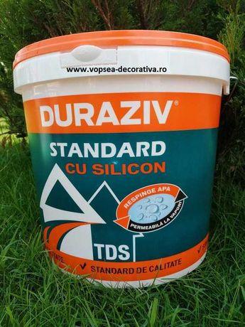 Tencuiala Decorativa cu silicon Duraziv 25kg - pret bomba! 48 culori