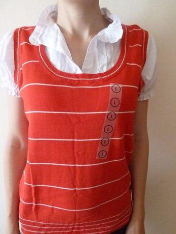 Bluza tip camasa cu vesta noua cu eticheta (100%bumbac)