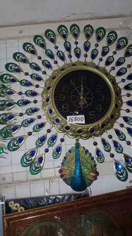 Часы с павлином жар птица