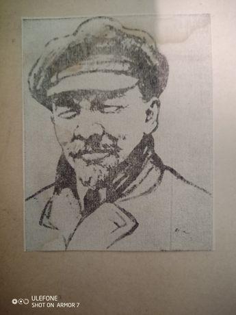 Caricatura foarte veche V.I.Lenin alb negru