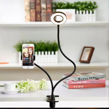 Дёшево!!!Кольцевая мини лампа с держателем