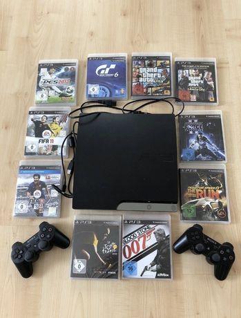 Vand PlayStation3 Nou cu Manete +Jocuri!