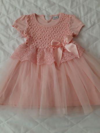 Детска рокля с панделка