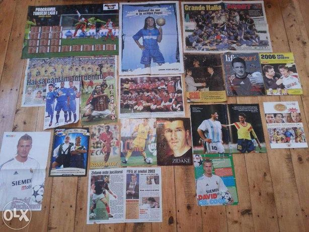 Reviste sport,Postere,Hagi,Zidane,Ronaldinho,K.Bryant etc