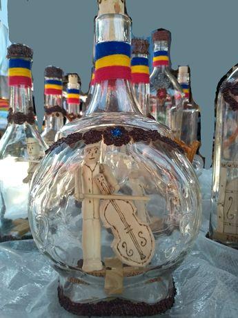 Sticle artizanale de palinca Tara Oasului - Maramures